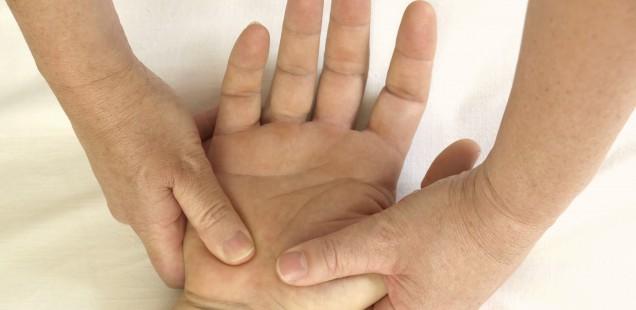 Shiatsu an den Händen